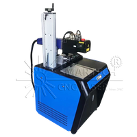 3D Dynamic Fiber Laser Marking Machine For Curve Round Bottles Cups