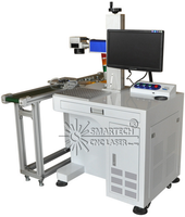 CO2 Flying Laser Marking Machine For Nonmetal Wood Acrylic Plastic Bottles Production Line Good Price