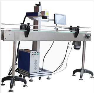 HDPE Plastic Pipe/Cable/Tube Online Flying Laser Marking Machine for Moving Obje
